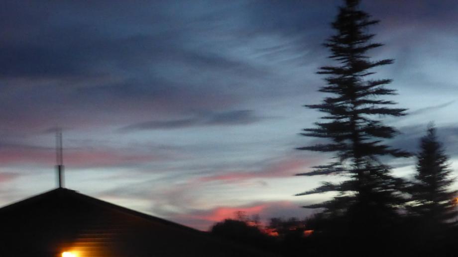prachtige avondlucht boven Utah